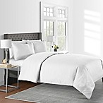 625-Thread-Count Pinstripe King Duvet Cover Set in White