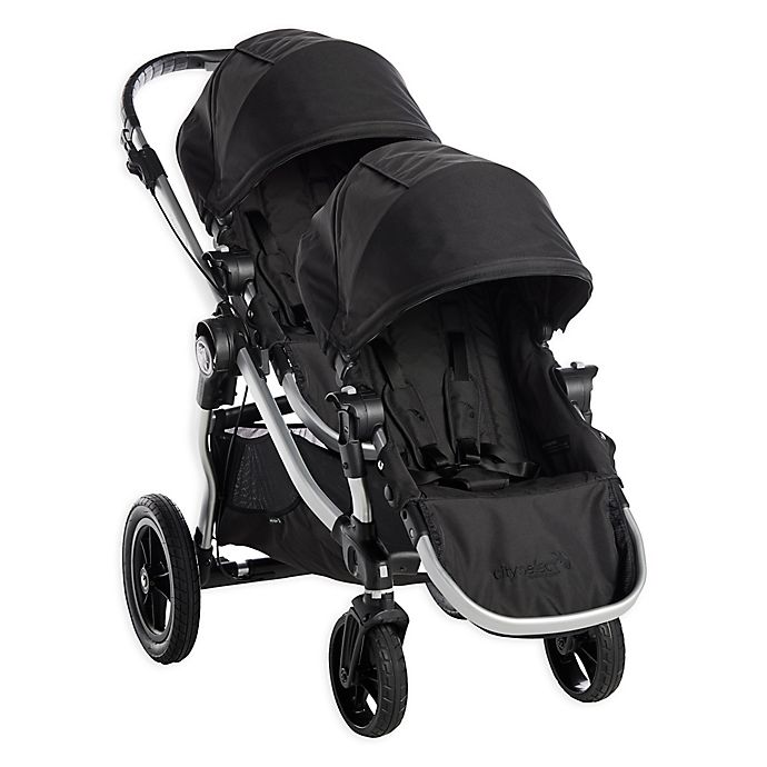 Alternate image 1 for Baby Jogger® City Select® Stroller with Second Seat in Onyx/Silver