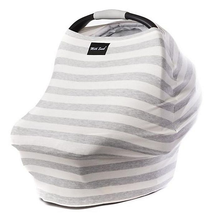 Alternate image 1 for Milk Snob® Multi-Use Car Seat Cover in Cream/Grey Stripe
