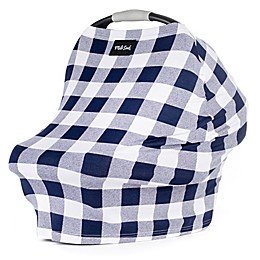 Milk Snob® Multi-Use Car Seat Cover in Navy Plaid