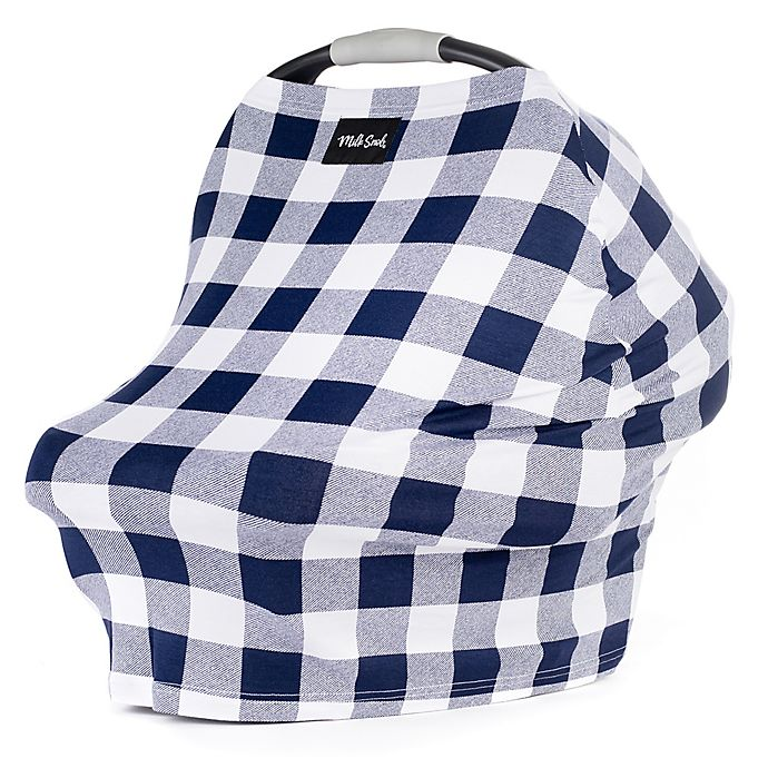 Alternate image 1 for Milk Snob® Multi-Use Car Seat Cover in Navy Plaid