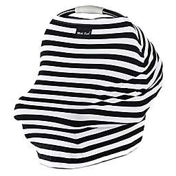 Milk Snob® Multi-Use Car Seat Cover in Black/White Stripe