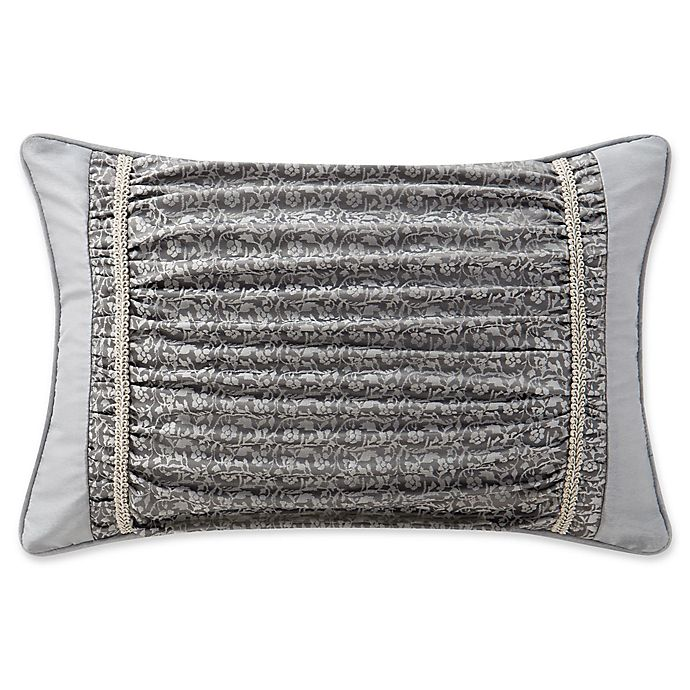 Alternate image 1 for Waterford® Ryan Oblong Throw Pillow  in Platinum