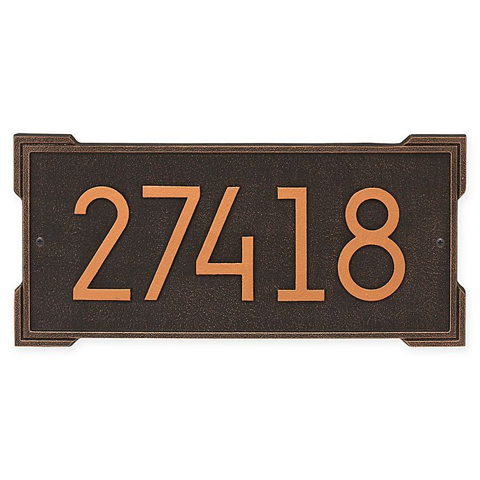 Alternate image 1 for Whitehall Products Roanoke Modern Wall Plaque in Oil Rubbed Bronze
