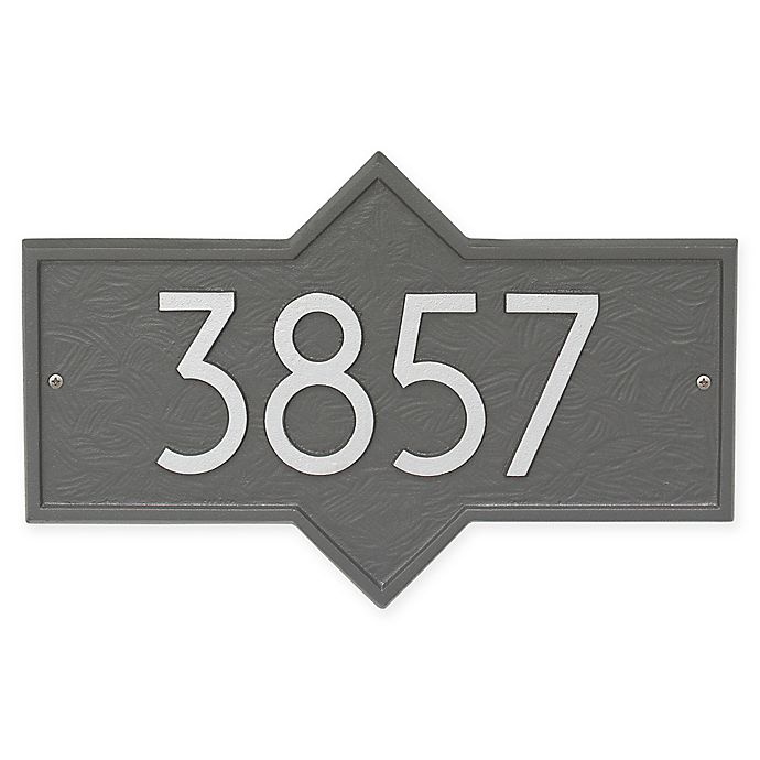 Alternate image 1 for Whitehall Products Hampton Modern Wall Plaque in Pewter/Silver