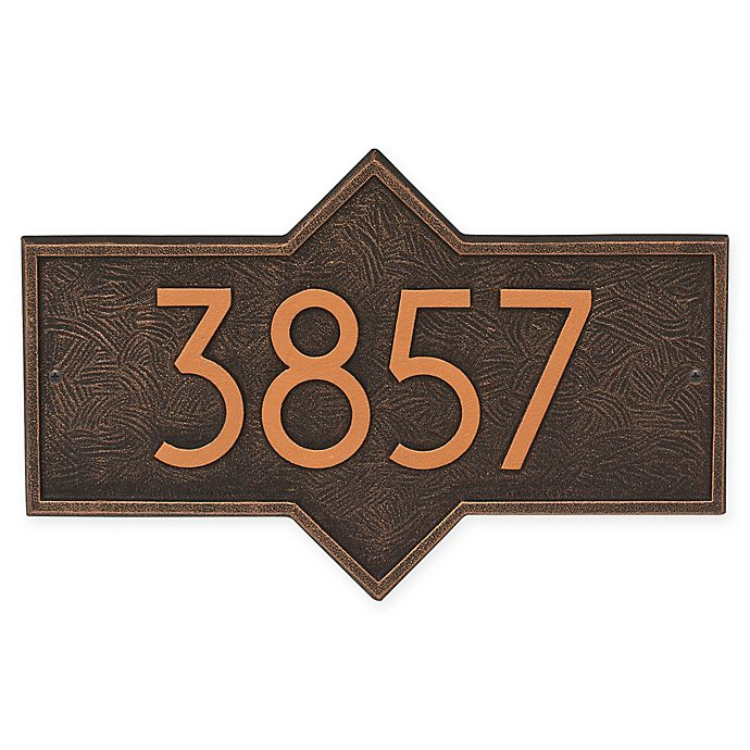 Alternate image 1 for Whitehall Products Hampton Modern Wall Plaque in Oil Rubbed Bronze