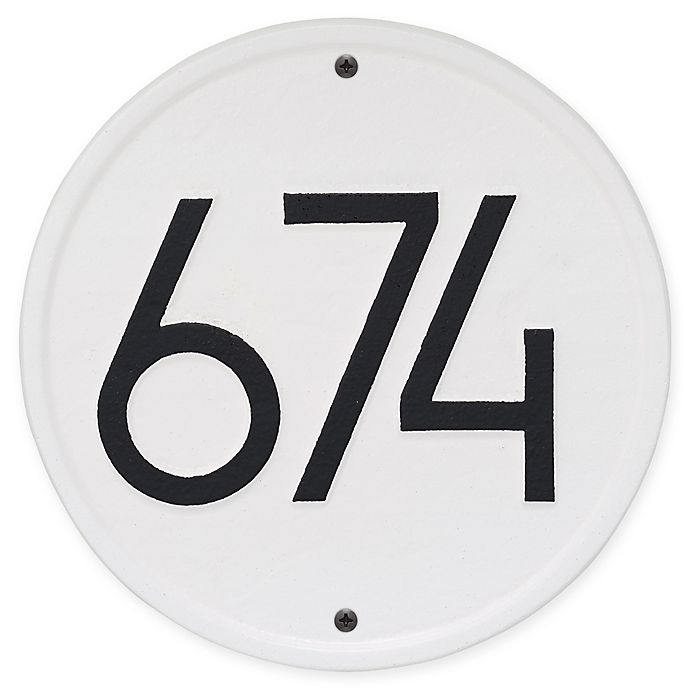 Alternate image 1 for Whitehall Products Round Modern Wall Plaque in White/Black