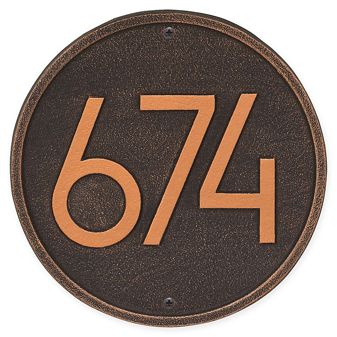 Alternate image 1 for Whitehall Products Round Modern Wall Plaque in Oil Rubbed Bronze