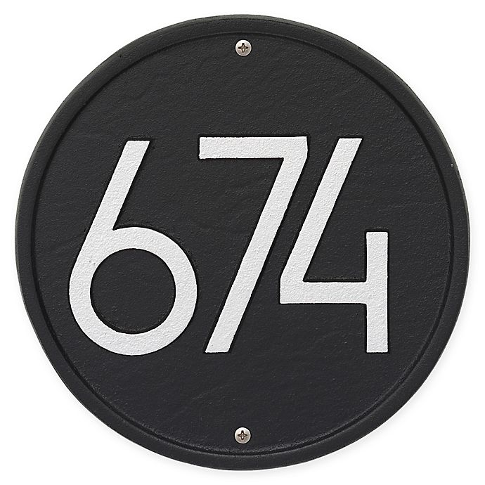 Alternate image 1 for Whitehall Products Round Modern Wall Plaque in Black/Silver