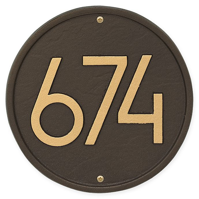 Alternate image 1 for Whitehall Products Round Modern Wall Plaque in Aged Bronze