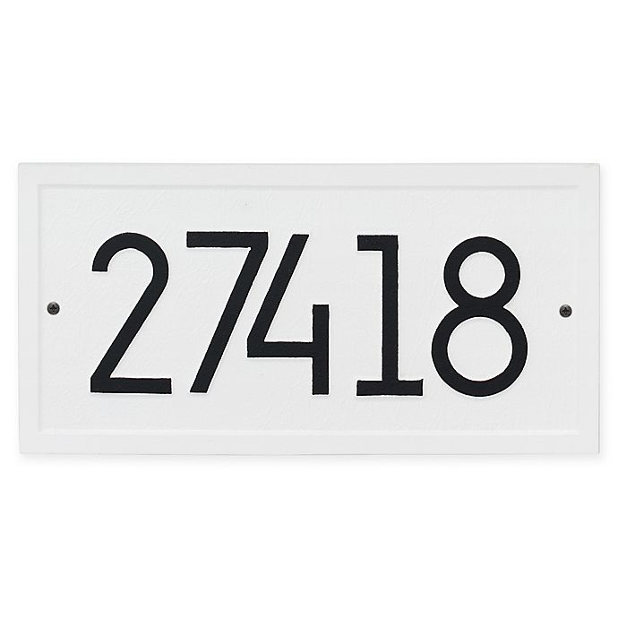 Alternate image 1 for Whitehall Products Rectangle Modern Wall Plaque in White/Black