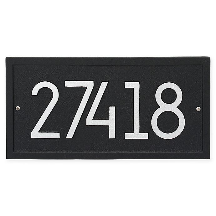 Alternate image 1 for Whitehall Products Rectangle Modern Wall Plaque in Black/Silver