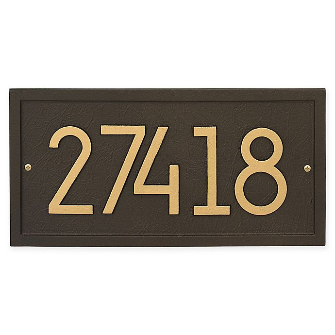 Alternate image 1 for Whitehall Products Rectangle Modern Wall Plaque in Aged Bronze