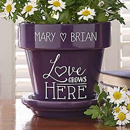 Love Grows Here Flower Pot