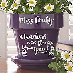 Seeds of Knowledge Flower Pot in Purple
