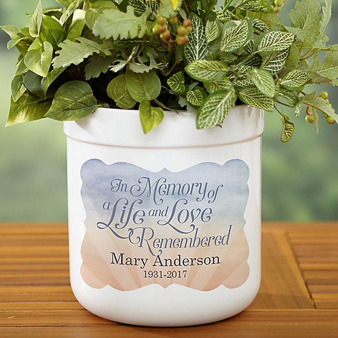 Alternate image 1 for In Memory Outdoor Flower Pot
