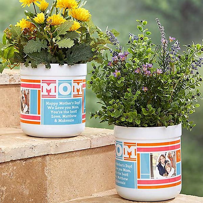 Alternate image 1 for MOM Photo Collage Outdoor Flower Pot