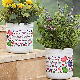 My Heart Belongs Flower Pot