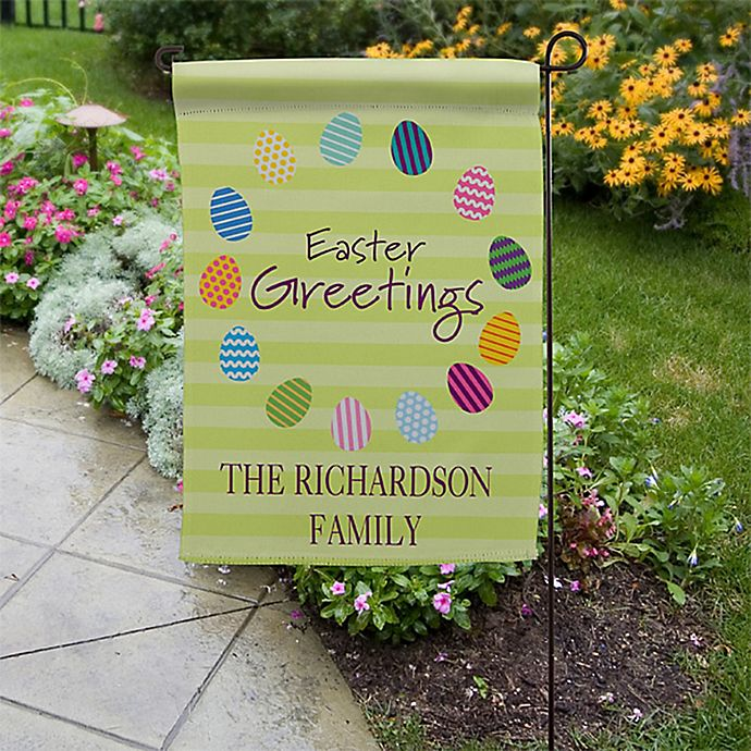 Alternate image 1 for Easter Greetings Garden Flag