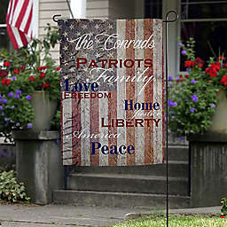 Patriotic Family Garden Flag
