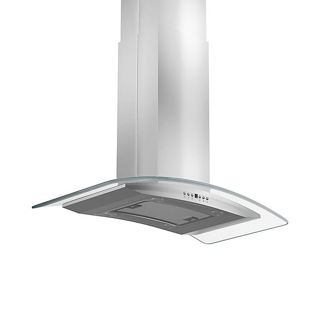 Alternate image 1 for ZLINE Classic Series GL14i-400 36-Inch Island Range Hood in Stainless Steel/Glass