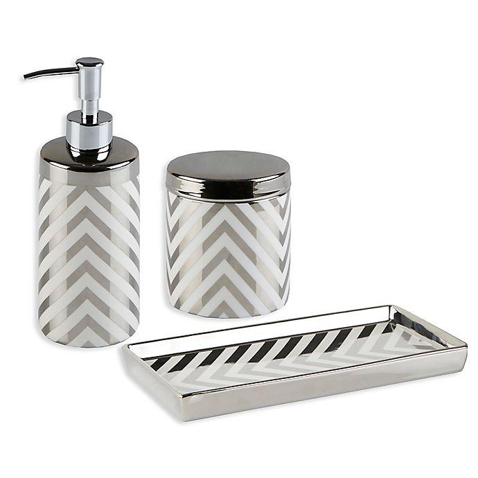 Madison park oakwood 3 piece bath accessory set bed bath - Madison park bathroom accessories ...