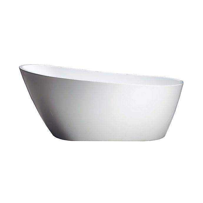 Alternate image 1 for Azzuri Marisol 67-Inch Freestanding Acrylic Soaking Tub in White
