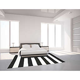 Trans-Ocean Balance Indoor/Outdoor Area Rug in Black/White