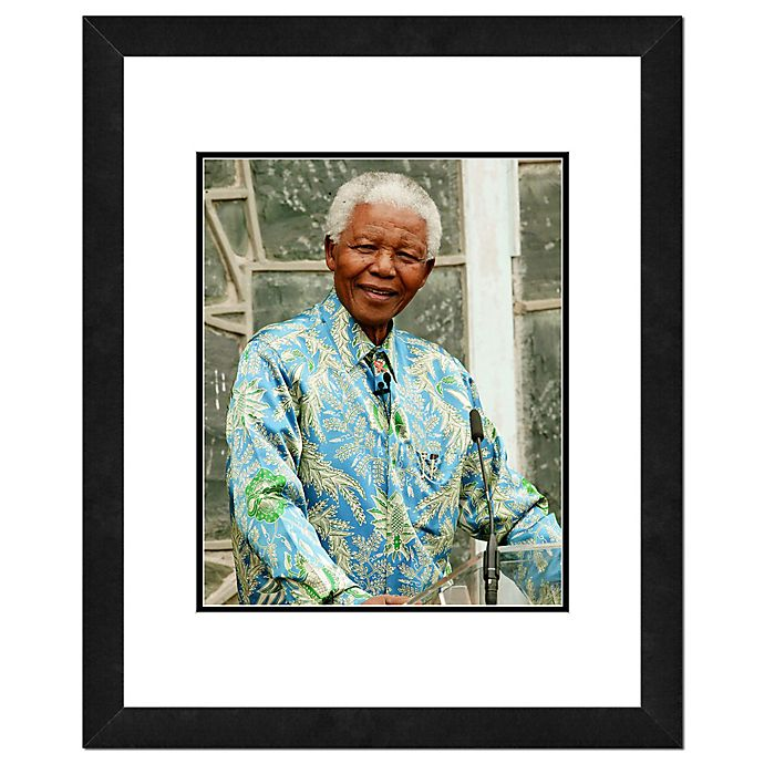 Alternate image 1 for Photo File Nelson Mandela 22-Inch x 26-Inch Framed Photo Wall Art