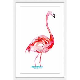 Marmont Hill Flamingo 18-Inch x 12-Inch Wall Art