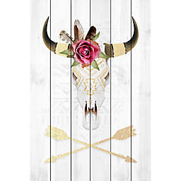 Marmont Hill Skull and Arrows II 16-Inch x 24-Inch White Wood Wall Art