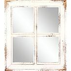 Masterpiece Art Gallery Rectangular Art Mirror in White Wash