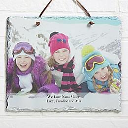 Photo Sentiments Horizontal Slate Plaque