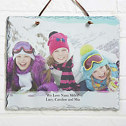 Photo Sentiments 11.5-Inch x 9.5-Inch Personalized Slate Plaque