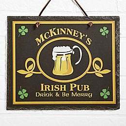 Old Irish Pub Horizontal Slate Sign