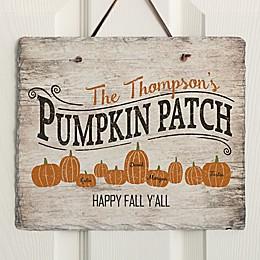 Family Pumpkin Patch Horizontal Slate Sign