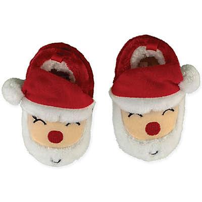 Sleepy Time Santa Face Slipper in Red