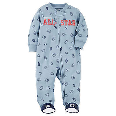 carter's® Snap-Up All-Star Sleep & Play Footie in Blue