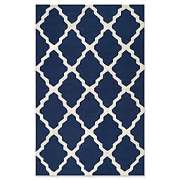 nuLOOM Marrakech Trellis 2-Foot x 3-Foot Accent Rug in Navy Blue