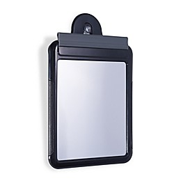 Z'Fogless Water Shower Travel Mirror with Carry Bag in Black