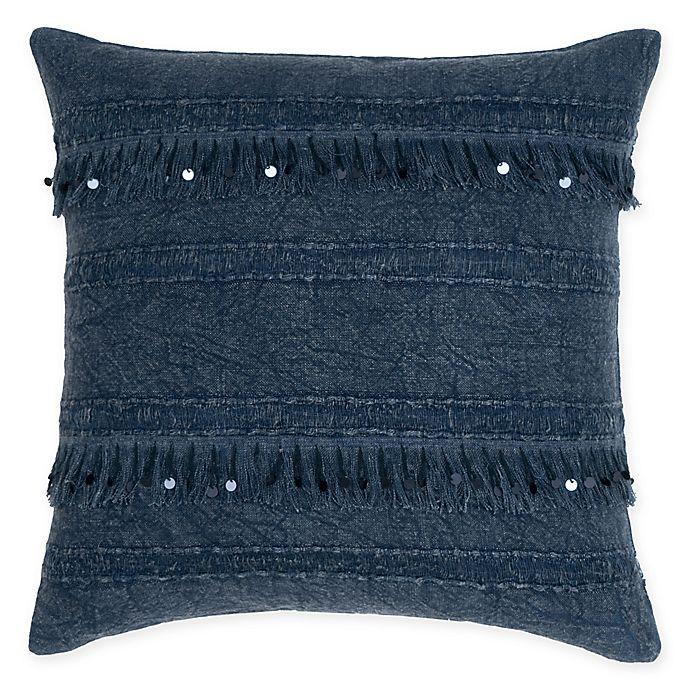 Alternate image 1 for Villa Home Dirade Square Throw Pillow in Indigo