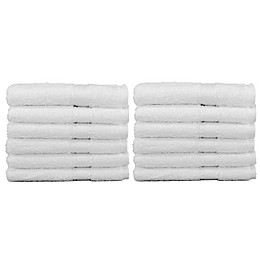 Linum Home Textiles Terry Washcloth in White (Set of 12)