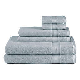 Blue Bath Towels Towel Style Solid Bed Bath And