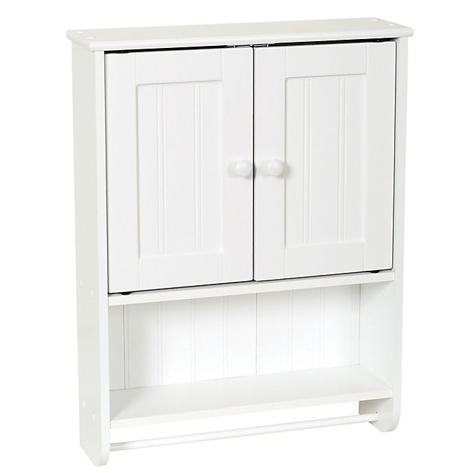 Alternate image 1 for Zenna Home® 26-Inch Bathroom Wall Cabinet in White
