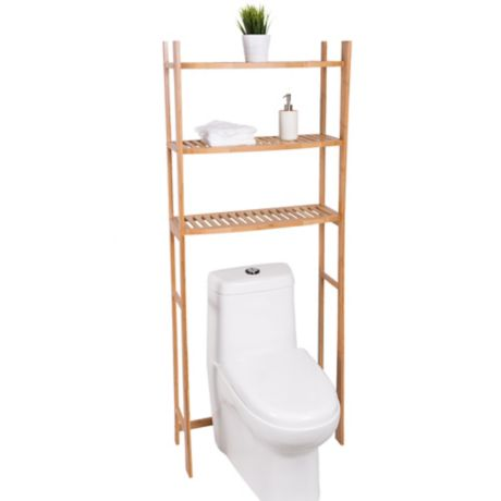Best Living 3 Shelf Bamboo Over The Toilet Space Saver