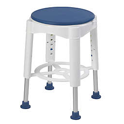 Drive Medical Bathroom Safety Swivel Seat Shower Stool in Blue