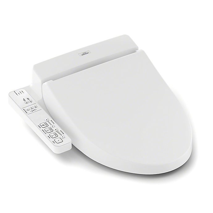 Toto Washlet A100 Elongated Bidet Toilet Seat In White Bed Bath Beyond