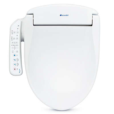Brondell Swash SE400 Elongated Round Bidet Toilet Seat in White