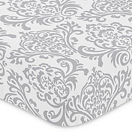 Sweet Jojo Designs Elizabeth Fitted Crib Sheet in Grey/White