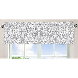 Sweet Jojo Designs Elizabeth Window Valance in Grey/White